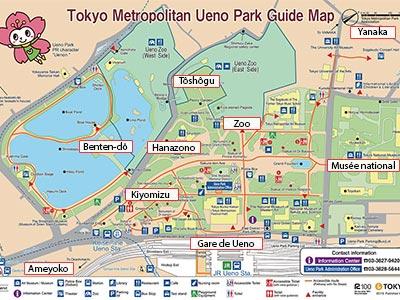Plan du parc Ueno