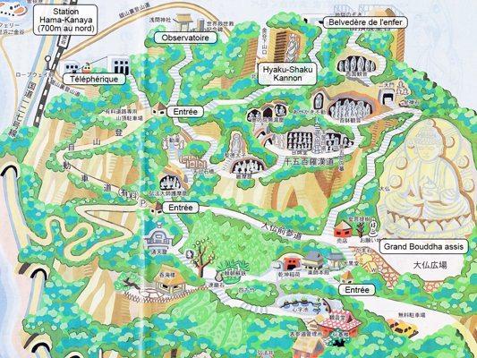 Plan du mont Nokogiri